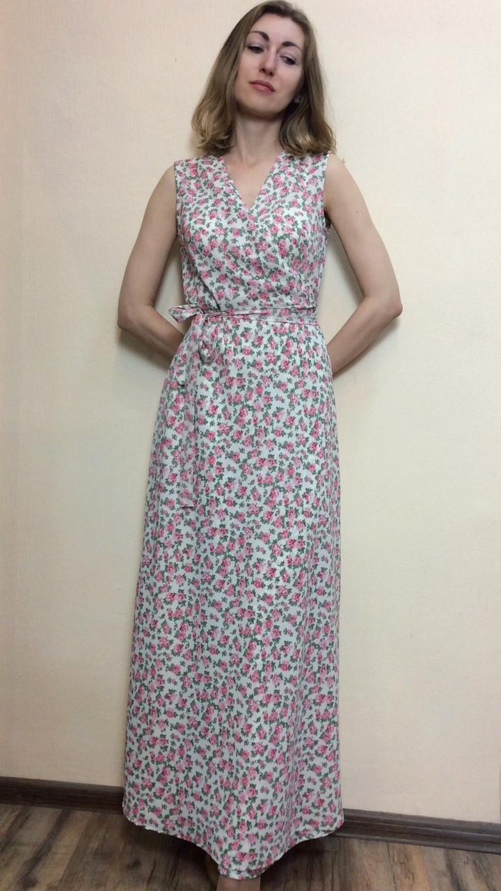 261912c1013 ... фото 2 · Шифоновое платье в пол на запах П228
