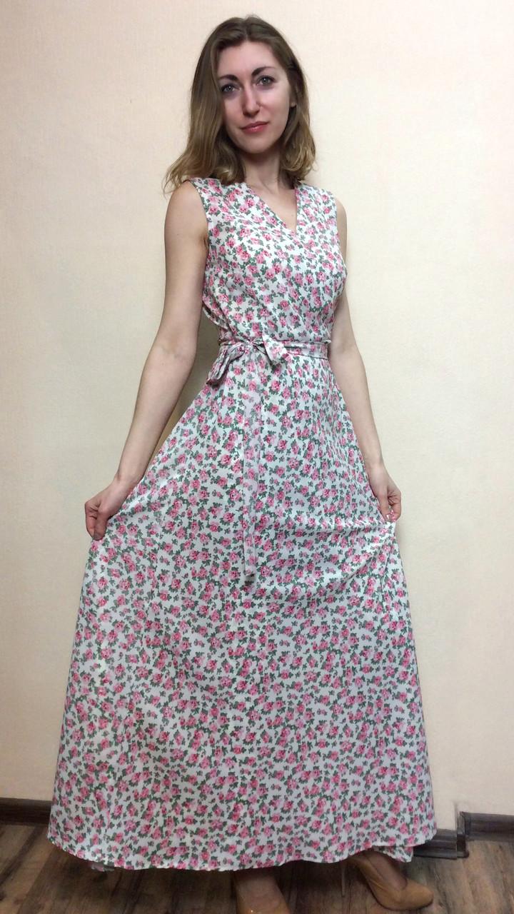 27b7bf7084c Шифоновое платье в пол на запах П228 - 2 Льва ® в Киеве