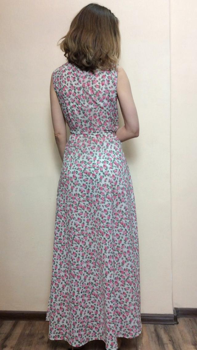 9910897ada3 ... Шифоновое платье в пол на запах П228