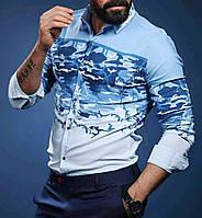Шикарная  рубашка для мужчин камуфляж, фото 1