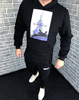 Спортивный костюм Givenchy D2764 черный теплый