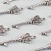 """Декоративный металлический ключик """"Корона маленькая"""", 5.6 см, 10 шт."""