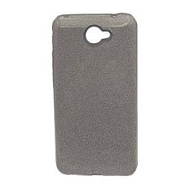 Чехол накладка для Huawei Y7 2017 силиконовый 3-в-1, Fashion Case GLITTER, Серебристый