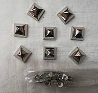 Шипы 15х15 см серебро