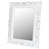 Зеркало настенное белое