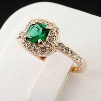 Шикарное кольцо с кристаллами Swarovski, покрытое слоями золота 0746