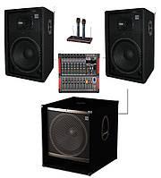 Комплект Sound Division SD DJ15A2-Sub15+ звукового оборудования для караоке, мощность 1000Вт