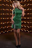 Красивое женское платье  серо-зеленый