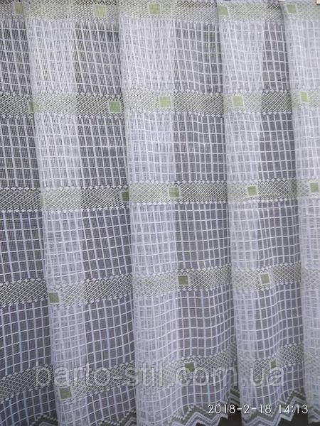 Красивая гардина на кухню белого цвета, сетка 1.5 м. высота.  Продажа от 1 м.,а также рулоном (от 30 м)