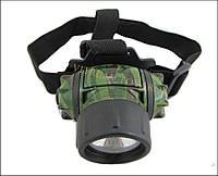 Налобный фонарь Хаки, 3 режима (6-8 светодиодов)