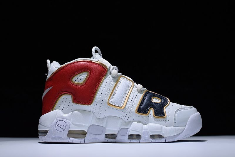 """Кроссовки Nike Air More Uptempo """"White/Black/Red"""""""