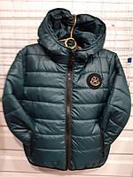 Куртка на девочку р.116-140, бутылочный