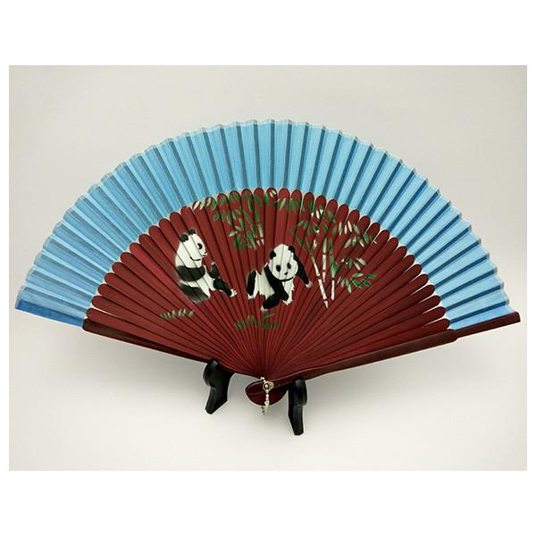Японский веер голубой «Сила панд»