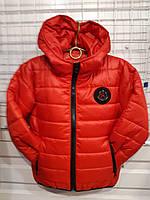 Куртка на дівчинку р. 116-140, червоний