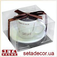 Свеча в кофейной чашке 8,5х5 см, ароматизированная