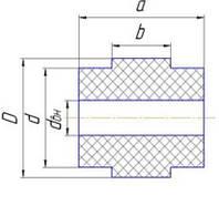 Ролик поддерживающий полиамидный для ТЦС (скребковый транспортер)