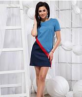 Стильное джинсовое платье - 19350 БЛ