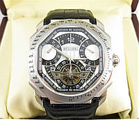 Часы Bvlgari Octo Maserati 45mm Silver/Black. Реплика: ААА., фото 1
