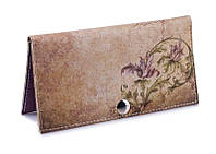Женское портмоне -Цветы на камне-. Ручная работа