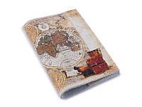 Обложка на паспорт кожа -Карта-
