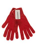 Перчатки женские вязаные C&A бордовые
