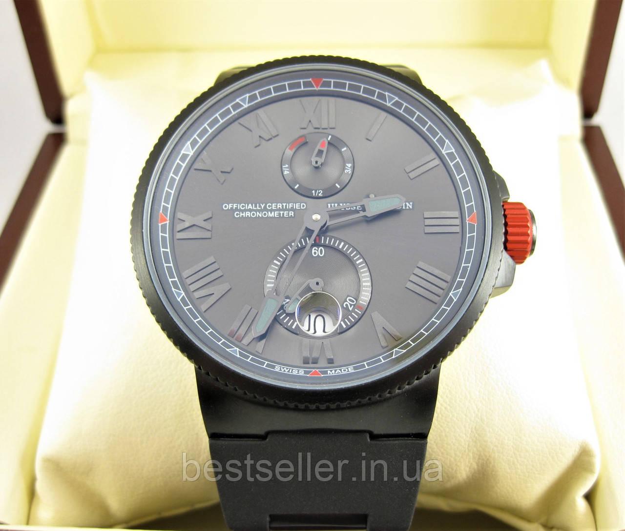 Часы Ulysse Nardin Choronometer 45mm (механика) Black Edition. Класс ... 394bb83256f