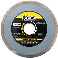 Круг алмазный Ceramics 1A1R 115*5*22.225 WE110120 WERK диск алмазный по плитке