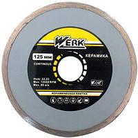 Круг алмазный Ceramics 1A1R 125*5*22.225 WE110121 WERK диск алмазный по плитке