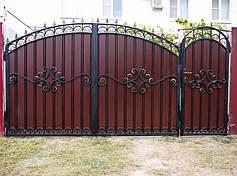 Ворота с профнастилом