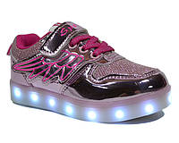 Кеды с LED подсветкой СВТ Q001-2 (Размеры: 27-32)