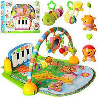 Коврик для младенца PA318 (8шт) подвес5шт(1в-зерк),дуга,пианино,муз,св,2вида,на бат,в кор.67-48-10cм
