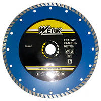 Круг алмазный Turbo 230*7*22.225 WE110114 WERK диск алмазный по бетону