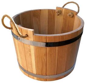 Шайка дубовая для бани и сауны 25 литров