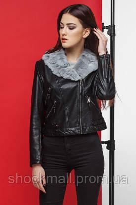 Куртка кожаная женская с натуральным мехом Kiro Tokao 4624M - Интернет  магазин ShockMall в Киеве 54e7ca17be5b2