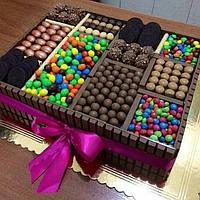 """Подарочный набор сладостей""""Сладкоежка"""", шоколадный торт"""
