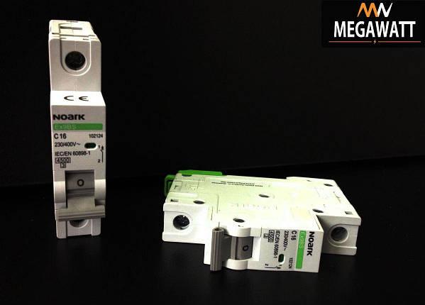 Модульний автоматичний вимикач 1/16A серія EX9BS, 1P C16 4,5KA, фото 2