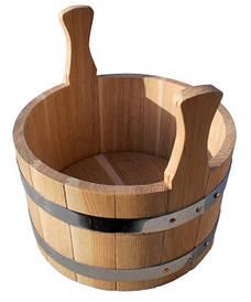 Шайка дубовая для бани и сауны 7 литров
