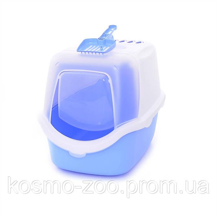 Туалет Stefanplast Cathy Easy Clean закрытый с угольным фильтром для кошек 56x40x40см