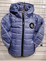 Куртка на девочку р.116-140, светло синий