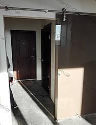 Стеклянные раздвижные двери в стиле лофт