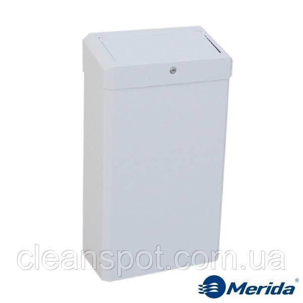 Корзина для мусора металлическая с крышкой Merida Stella White Maxi