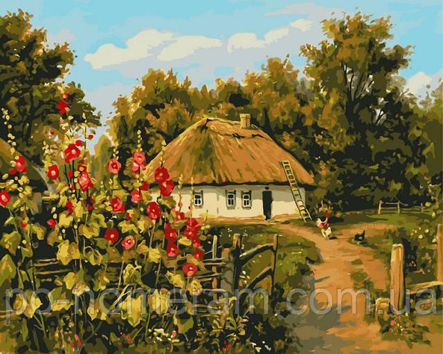 Картина по номерам Сельская хатка