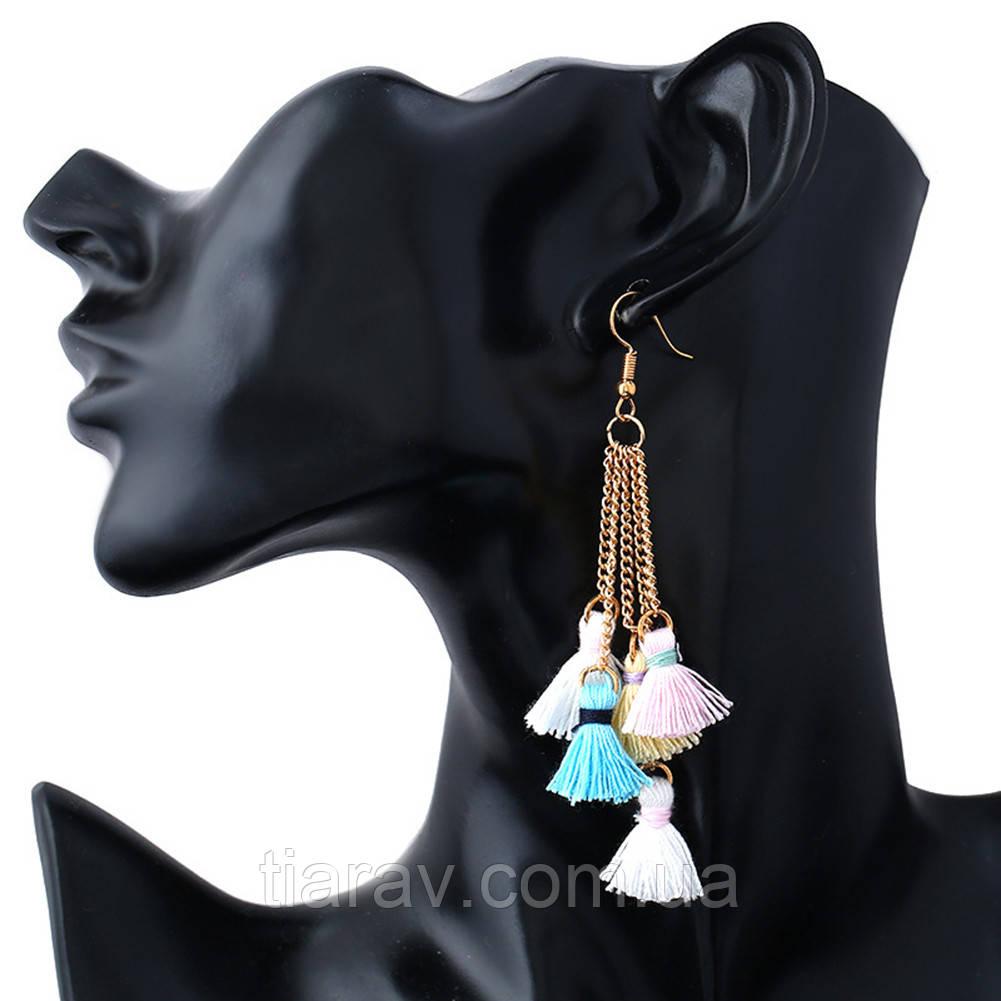 Сережки кисті сережки біжутерія сережки модні довгі