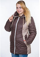 Куртка женская №26 (шоколад/бежевый)