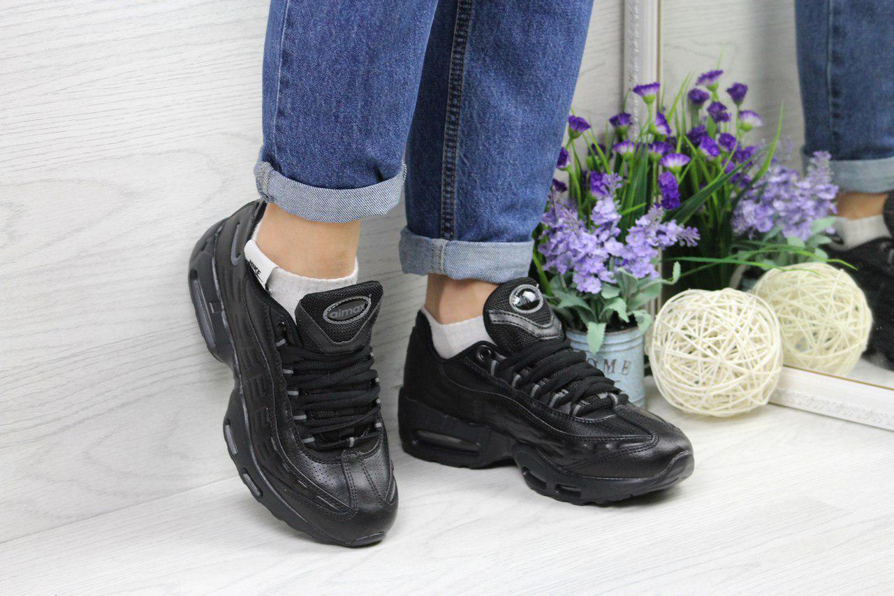 Кроссовки женские Nike 95 (черные), ТОП-реплика