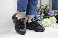 Кроссовки женские Nike 95 (черные), ТОП-реплика, фото 1