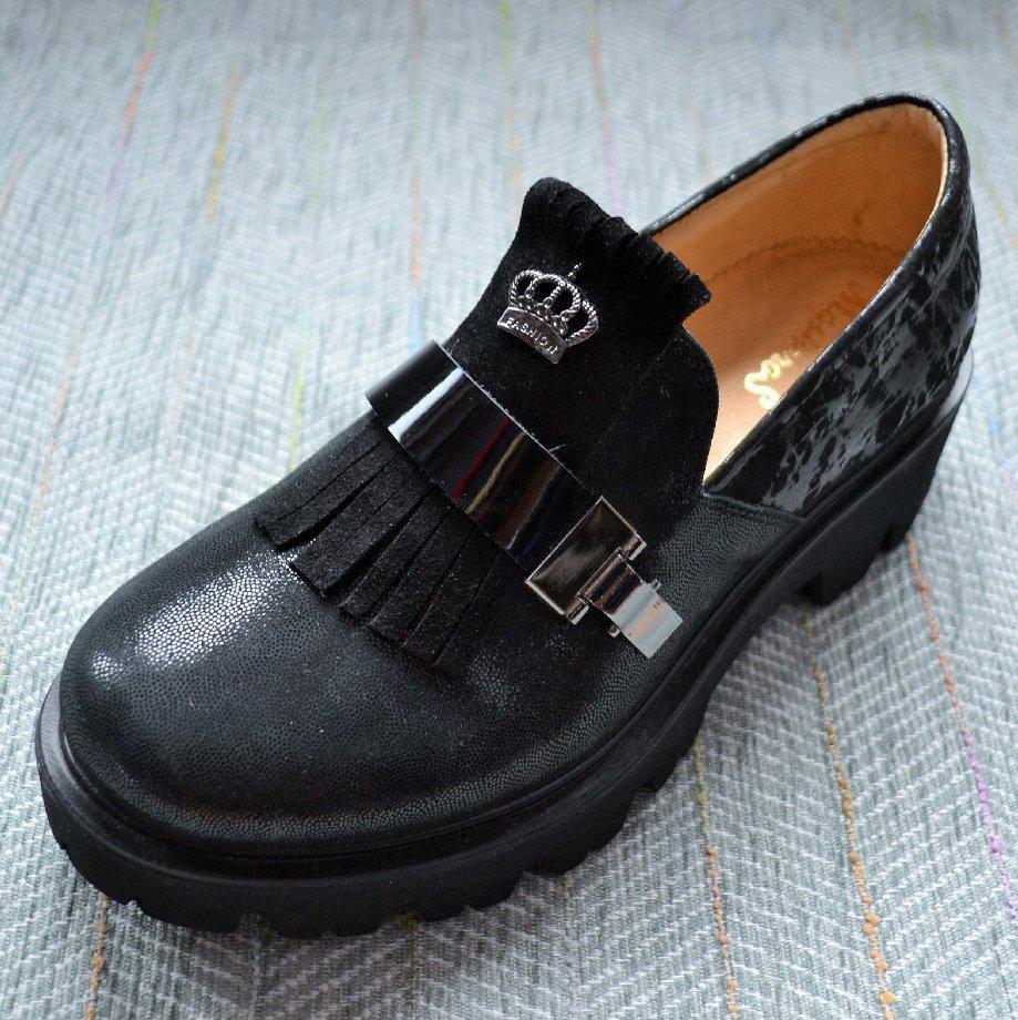Туфлі замшеві трактор, Masheros розміри: 36-37