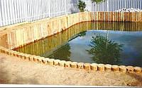 Укрепление водоёмов камнем, габионами, шпунтом. +380 (67) 429-04-50