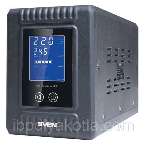 ИБП Sven Reserve Home-500 (300Вт), для котла, чистая синусоида, внешняя АКБ