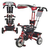 Велосипед М 5362-5 (1шт) три колеса, EVA Foam, красный, усиленная двойная ручка, подшипник